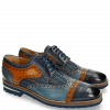 Derby Schuhe Phil 10 Woven Navy Tan Moroccan Blue Harrisburg Blue