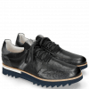 Sneakers Hank 2 Ostrich Nappa Stretch Perfo Black