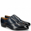 Oxford Schuhe Lance 44 Navy Stone Helio
