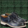 Derby Schuhe Henry 7 Navy Wind Sky Blue Woven Navy Modica White