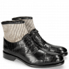 Stiefeletten Patrick 4 Crock Black Hairon Stripes