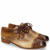 Derby Schuhe Henry 7 Mid Brown Tan Nude Cherso Perfo Bronze