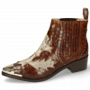 Stiefeletten May 5 Crock Mid Brown Snake Rivets Gold