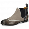 Stiefeletten Sally 19 Stone Navy Nappa Aztek Silver Oily Suede Taupe