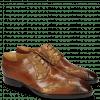 Derby Schuhe Ricky 8 Dice Tan Varadeo Cognac