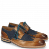 Derby Schuhe Marvin 13 Tan Denim Blue