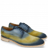 Derby Schuhe Ryan 3 Suede Pattini Jute Shade Navy Yellow