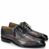 Oxford Schuhe Marvin 12 Navy Ruby Milano Moroccan Blue
