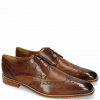 Derby Schuhe Martin 15 Berlin Mid Brown Perfo Wood