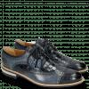 Derby Schuhe Henry 7 Navy Wind Sky Blue Woven Navy
