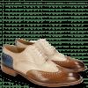 Derby Schuhe Kane 31 Nougat Natural Neptune Blue