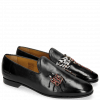 Loafers Scarlett 8 Black Patch Dragon Fly Bug
