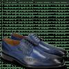 Derby Schuhe Albert 2 Saphir Rivets Lines Navy