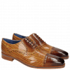 Oxford Schuhe Lewis 36 Tan Sand Lines Dark Brown