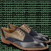 Derby Schuhe Martin 7 Berlin Lima Perfo Navy Grigio