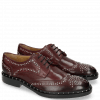 Derby Schuhe Sally 53 Burgundy Rivets