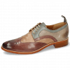 Derby Schuhe Betty 16 Pavia Light Purple Cappuccino Satellite Oxygen