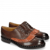Oxford Schuhe Sally 75 Mogano Winter Orange Rivets