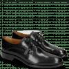 Derby Schuhe Betty 2 Black Tassel Black Lining Rich Tan