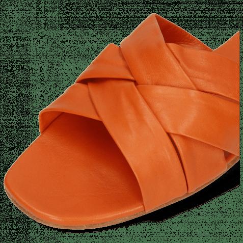 Pantoletten Elodie 46 Nappa Orange