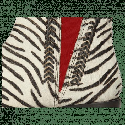 Stiefeletten Marlin 10 Hairon Zebra Elastic Red