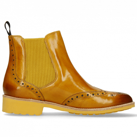 Stiefeletten Selina 6 Indy Yellow Elastic Ribbed Mustard