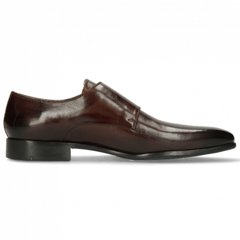 Monk Schuhe Lance 10 Mid Brown Lining Purple Flex