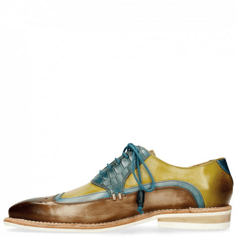 Derby Schuhe Marvin 12 Mid Brown Bluette Sol