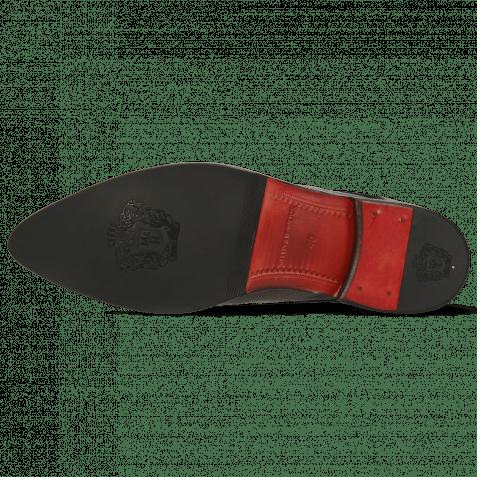 Derby Schuhe Toni 39 Crock London Fog Soft Patent Black Smoke Suede Pattini Black