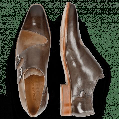 Monk Schuhe Lance 34 Grigio Lining Rich Tan