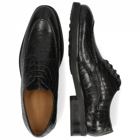Derby Schuhe Parker 1 Crock Black Lining Genevra