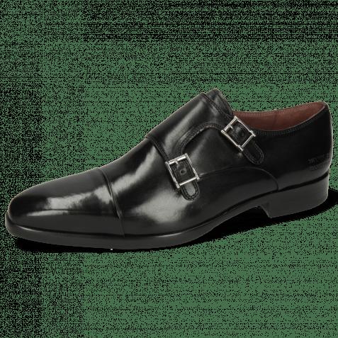Monk Schuhe Lance 1 Black Lining Purple Flex Black