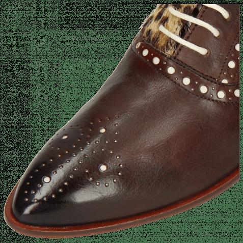 Oxford Schuhe Jessy 61 Imola Mogano Hairon Leo Beige Underlay