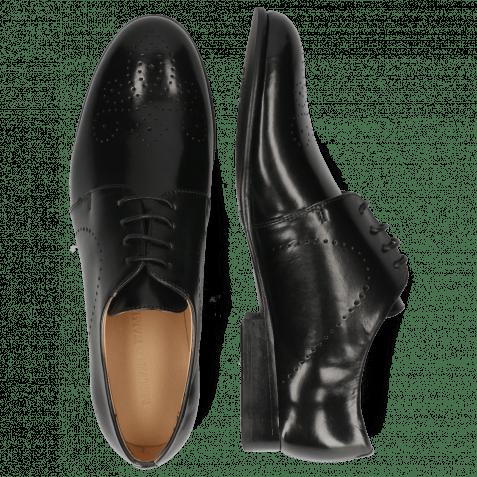 Derby Schuhe Sally 1 Black Lining Rich Tan