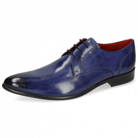 Derby Schuhe Toni 1 Forum Cobalt Lining Red