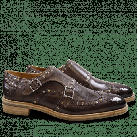 Monk Schuhe Tom 5 Milano Stone Rivets Mixed Crepe