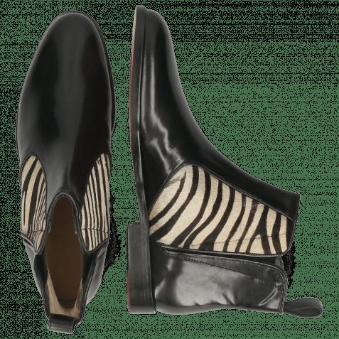 Stiefeletten Susan 34 Black Hairon Zebra