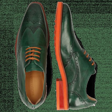 Derby Schuhe Dave 2 Monza Pine Laces Flat Orange