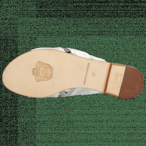 Pantoletten Hanna 63 Nappa Silver Footbed