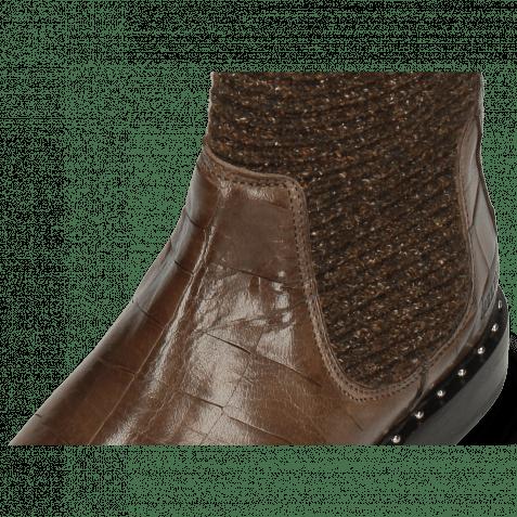 Stiefeletten Susan 69 Turtle Stone Textile Brina Mokka