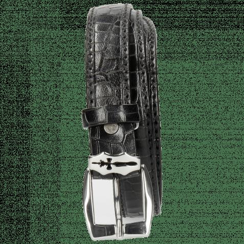 Gürtel Linda 1 Crock Black Sword Buckle