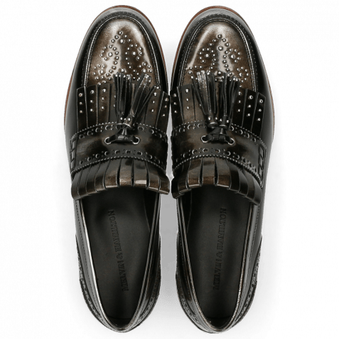 Loafers Pit 2 Brushoff Silver Rivets