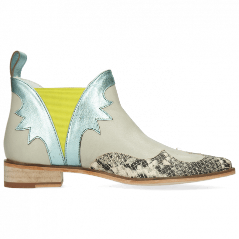 Stiefeletten Marlin 44 Snake Off White Nappa Glove Tropical Sea Idra Turquoise