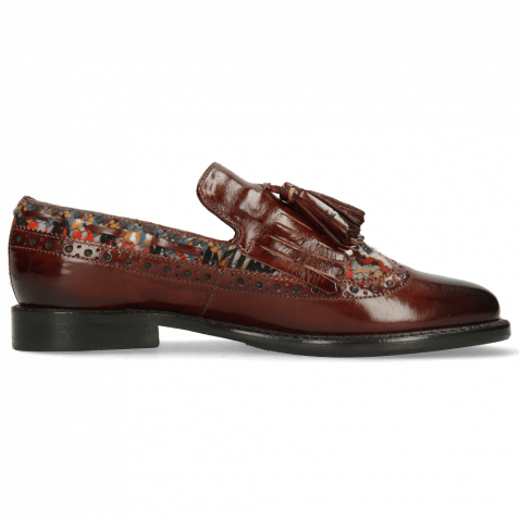 Loafers Selina 3 Plum Textile Quilesa