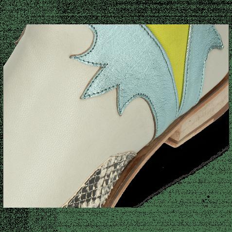 Stiefeletten Marlin 44 Snake Off White Nappa Glove Tropical Sea Idra Turquoise