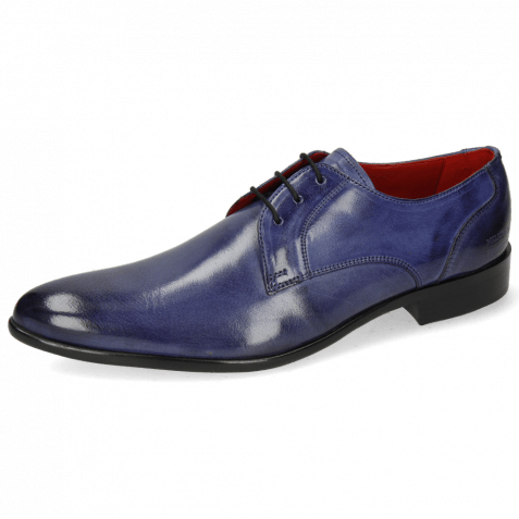 Derby Schuhe Toni 1 Forum Light Cobalt Lining Red
