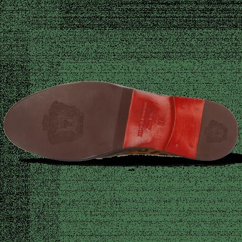 Derby Schuhe Selina 41 Wood Hairon Leo Cognac