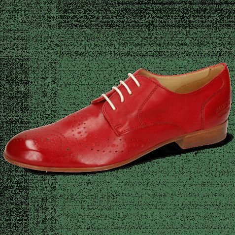 Derby Schuhe Sally 131 Imola Red