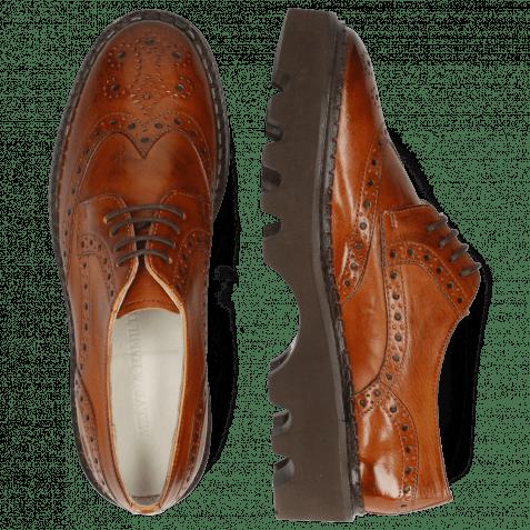 Derby Schuhe Jenny 6 Monza Tan