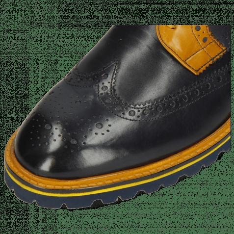 Derby Schuhe Matthew 33 Navy Yellow